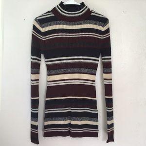 H&M multi-colored turtle neck sweater